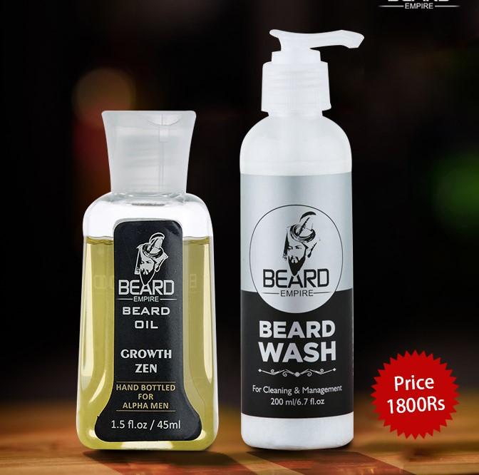 Growth Zen beard oil + Beard Shampoo
