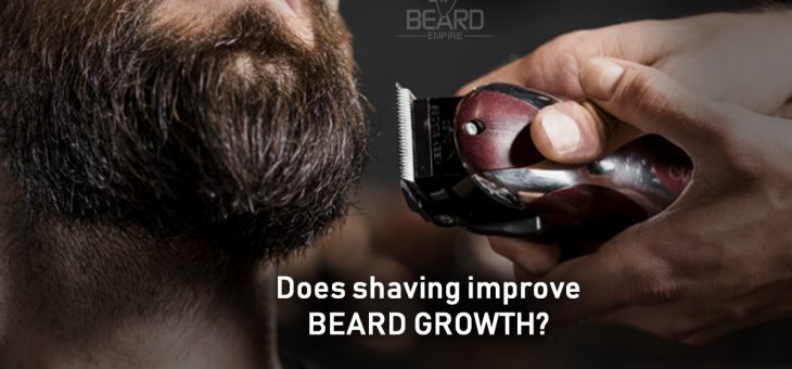 Does shaving improves beard growth?